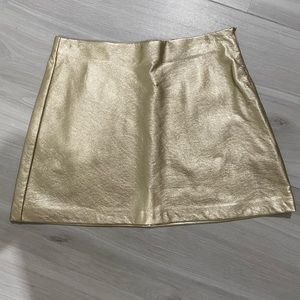 Zara Gold Mini Skirt